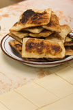 Homemade puff pastry on grandmothers way Royalty Free Stock Photos