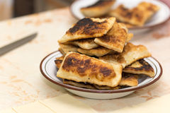 Homemade puff pastry on grandmothers way Stock Images