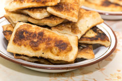 Homemade puff pastry on grandmothers way Stock Photo