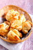 Homemade puff pastry mini rolls Stock Photo