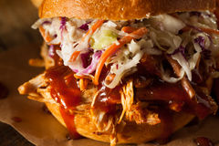 Homemade Pulled Chicken Sandwich Stock Images