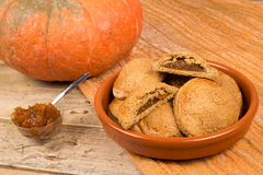 Homemade pumpkin biscuits Stock Images