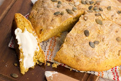 Homemade pumpkin bread Royalty Free Stock Photo