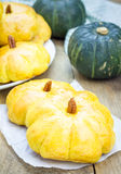 Homemade pumpkin buns Royalty Free Stock Photography