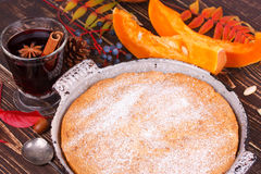 Homemade pumpkin cake Royalty Free Stock Image