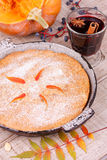 Homemade pumpkin cake Stock Image