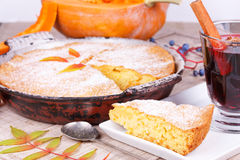 Homemade pumpkin cake Royalty Free Stock Images