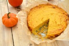 Homemade pumpkin cheesecake Stock Photo