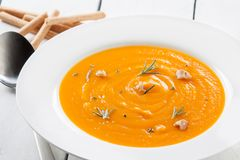 Homemade pumpkin cream Stock Image