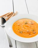 Homemade pumpkin cream Stock Photography