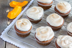Homemade pumpkin cupcake Royalty Free Stock Images
