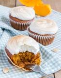 Homemade pumpkin cupcakes Royalty Free Stock Photos