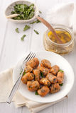Homemade pumpkin gnocchi with sage butter Royalty Free Stock Photo