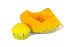 Homemade pumpkin muffin Stock Photo