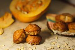 Homemade pumpkin muffins Stock Image