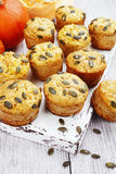 Homemade pumpkin muffins Royalty Free Stock Images