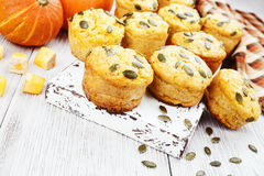 Homemade pumpkin muffins Royalty Free Stock Photo