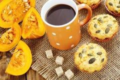 Homemade pumpkin muffins Stock Photography