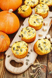 Homemade pumpkin muffins Royalty Free Stock Photography