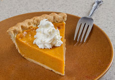 Homemade pumpkin pie Royalty Free Stock Images