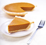 Homemade pumpkin pie Stock Photos