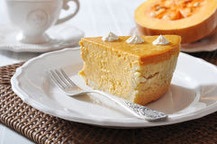 Homemade Pumpkin Pie Royalty Free Stock Photo