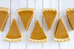Homemade Pumpkin Pie Slices Royalty Free Stock Image