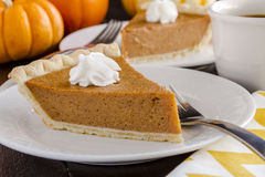 Free Homemade Pumpkin Pie Slices Royalty Free Stock Photography - 46434347
