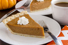 Free Homemade Pumpkin Pie Slices Stock Images - 46434444