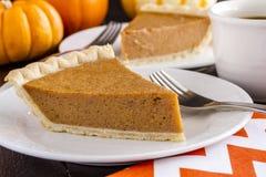 Homemade Pumpkin Pie Slices Stock Photo