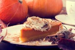 Homemade Pumpkin Pie for Thanksgiving. Stock Photography