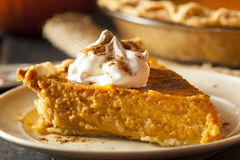 Homemade Pumpkin Pie for Thanksigiving Royalty Free Stock Photography