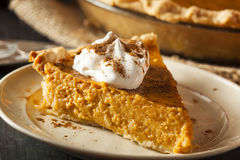 Homemade Pumpkin Pie for Thanksigiving Royalty Free Stock Photos