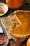 Homemade Pumpkin Pie for Thanksigiving Royalty Free Stock Photo