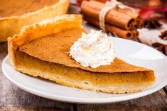 Homemade pumpkin pie Stock Photography