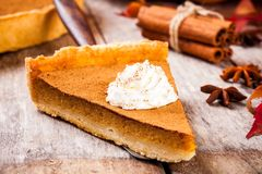 Homemade pumpkin pie Royalty Free Stock Photos
