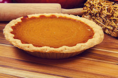 Homemade Pumpkin Pie Stock Image