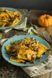 Homemade Pumpkin Ravioli with Butter Sauce Stock Photos