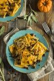 Homemade Pumpkin Ravioli with Butter Sauce Royalty Free Stock Photos