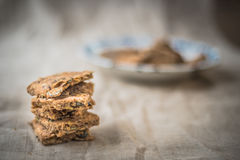 Homemade pumpkin seeds biscuits Stock Images