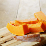 Homemade pumpkin slices Royalty Free Stock Photography
