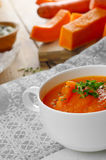Homemade pumpkin soup puree Royalty Free Stock Photography