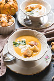 Homemade pumpkin soup Stock Photo