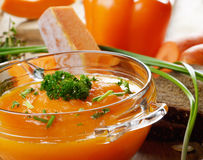 Homemade pumpkin soup Stock Image