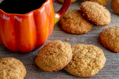 Homemade Pumpkin Spice Cookies Royalty Free Stock Photo