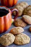 Homemade Pumpkin Spice Cookies Stock Images