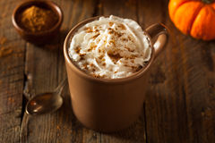 Homemade Pumpkin Spice Latte Royalty Free Stock Photos