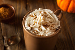 Homemade Pumpkin Spice Latte Royalty Free Stock Image
