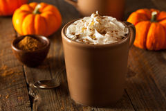 Homemade Pumpkin Spice Latte Royalty Free Stock Photography