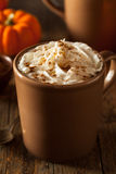 Homemade Pumpkin Spice Latte. With Cream and Cinnamon stock images